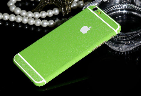 Frosted Green Sparkle Decal Wrap Skin Set iPhone 6s 6 / iPhone 6s 6 Plus - Mavasoap - 1