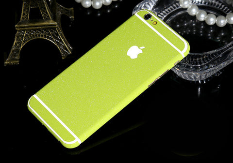 Frosted Lime Sparkle Decal Wrap Skin Set iPhone 6s 6 / iPhone 6s 6 Plus - Mavasoap - 1