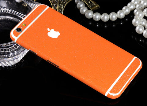 Frosted Orange Sparkle Decal Wrap Skin Set iPhone 6s 6 / iPhone 6s 6 Plus - Mavasoap - 1