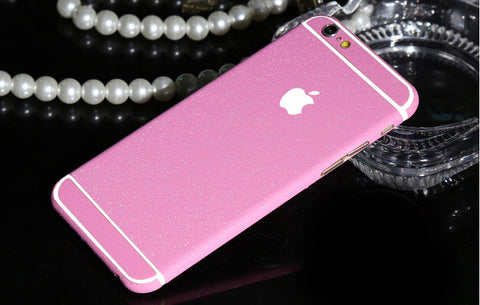 Frosted Pink Sparkle Decal Wrap Skin Set iPhone 6s 6 / iPhone 6s 6 Plus - Mavasoap - 1