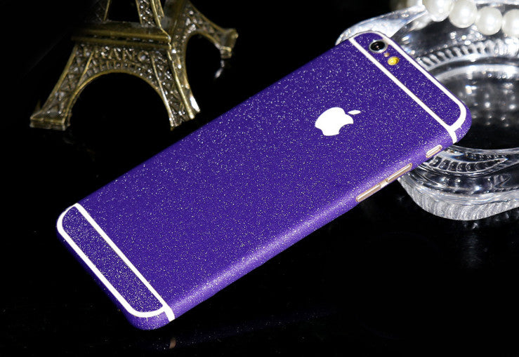Frosted Purple Violet Sparkle Decal Wrap Skin Set iPhone 6s 6 / iPhone 6s 6 Plus - Mavasoap - 1