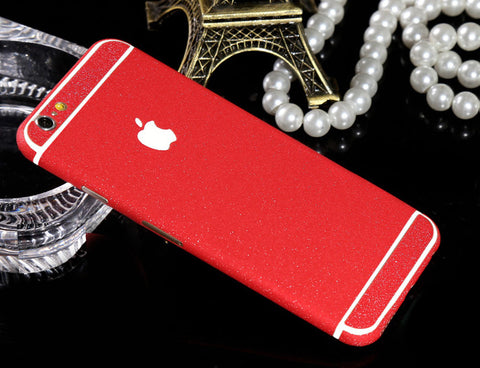 Frosted Red Sparkle Decal Wrap Skin Set iPhone 6s 6 / iPhone 6s 6 Plus - Mavasoap - 1