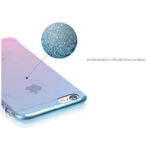 Aqua Gradient Transparent Soft Clear Case Back Cover for iPhone 6s 6 Plus SE 5s 5 - Mavasoap - 5