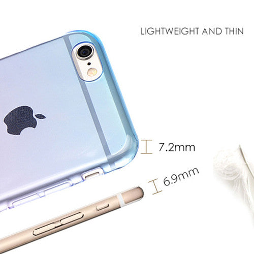 Aqua Gradient Transparent Soft Clear Case Back Cover for iPhone 6s 6 Plus SE 5s 5 - Mavasoap - 3