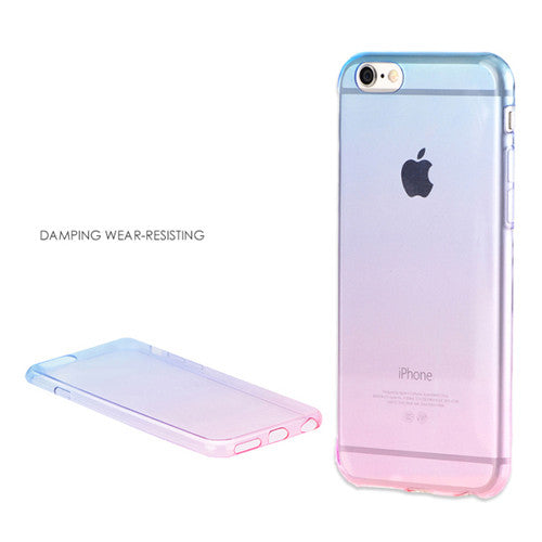 Aqua Gradient Transparent Soft Clear Case Back Cover for iPhone 6s 6 Plus SE 5s 5 - Mavasoap - 6