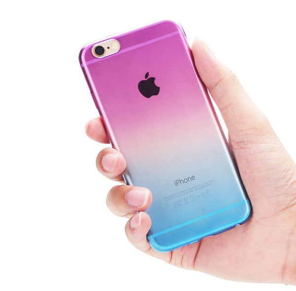 Aqua to Yellow Gradient Soft Clear Case Back Cover for iPhone 6s 6 Plus SE 5s 5 - Mavasoap - 4