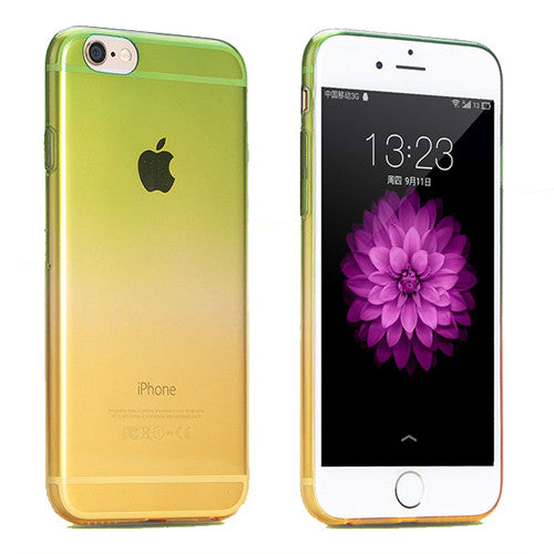 Green to Yellow Gradient Soft Clear Case Back Cover for iPhone 6s 6 Plus SE 5s 5 - Mavasoap - 1