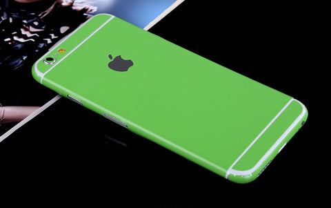 Green Pure Decal Wrap Skin Set iPhone 6s 6 / iPhone 6s 6 Plus - Mavasoap - 1