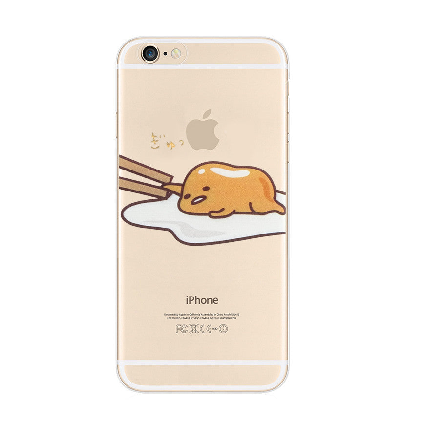 Gudetama Sleep Lazy Nope iPhone 6s 6 Plus SE 5s 5 Soft Clear Case - Mavasoap