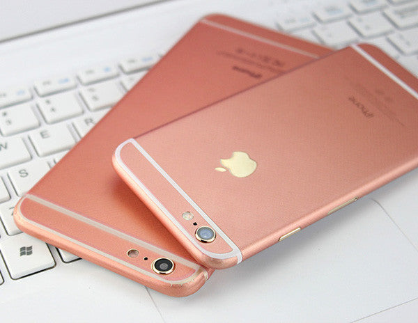 Rose Gold Pink Decal Wrap Skin Set Apple iPhone 6s 6 / iPhone 6s 6 Plus - Mavasoap - 1