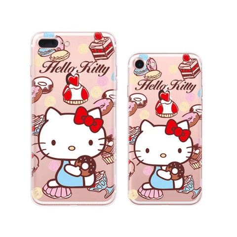 Hello Kitty Doughnut iPhone 7 Soft Clear Cases