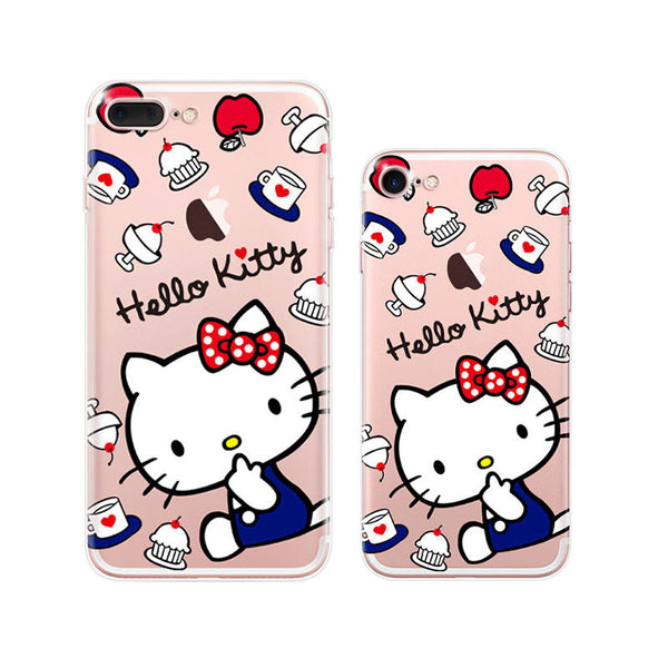 Hello Kitty iPhone 7 Plus Soft Clear Cases