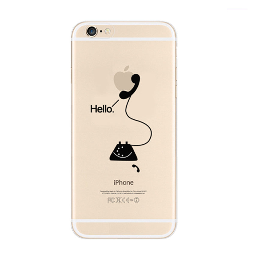 Hello Telephone iPhone 6s 6 Plus SE 5s 5 Soft Clear Case - Mavasoap