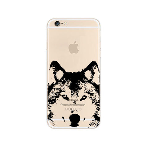 Husky Wolf Dog Akita Inu iPhone 6s 6 Soft Clear Case - Mavasoap