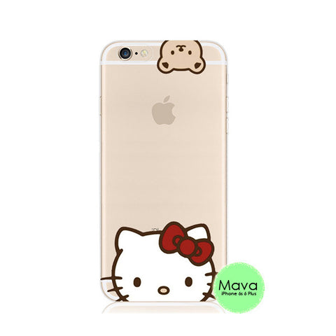 Hello Kitty iPhone 6s 6 Plus SE 5s 5 Soft Clear Case - Mavasoap