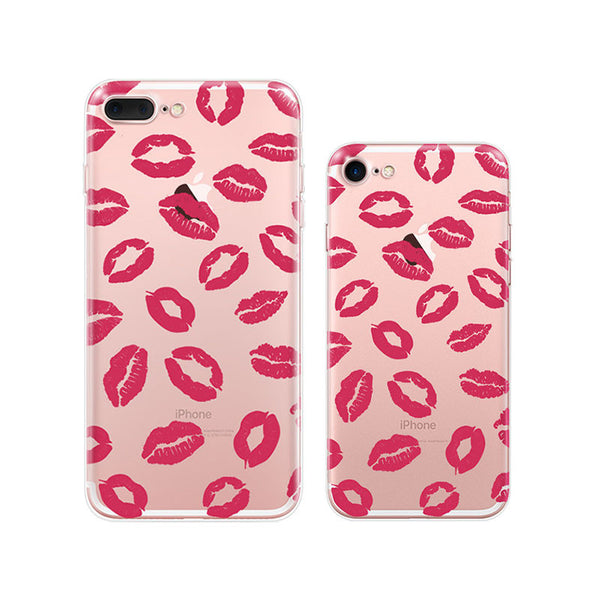 Kiss Pattern iPhone 7 Cases