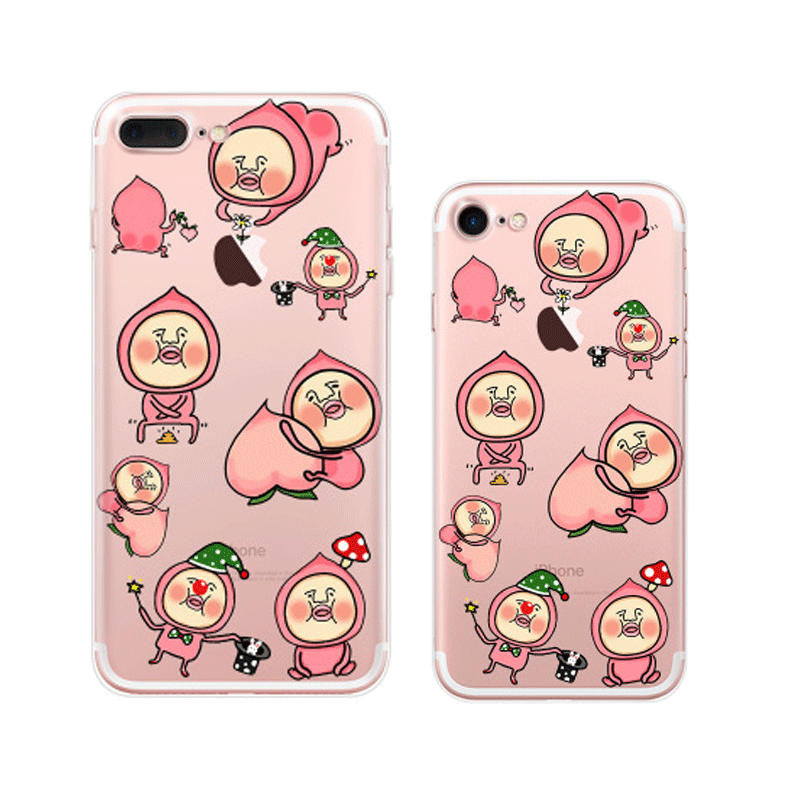 Kobito Dukan Pattern iPhone 7 Soft Clear Cases
