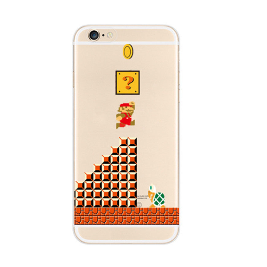 Super Mario Question Brick Mystery Block Koopa Troopa iPhone 6s 6 Soft Clear Case - Mavasoap