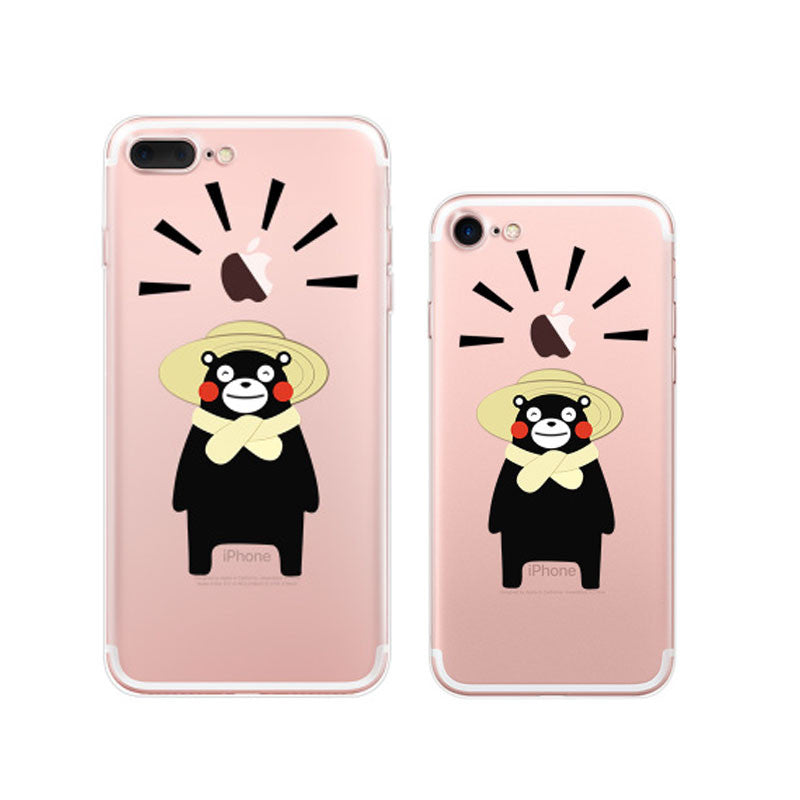 Kumamon Farmer iPhone 7 Plus Soft Clear Cases