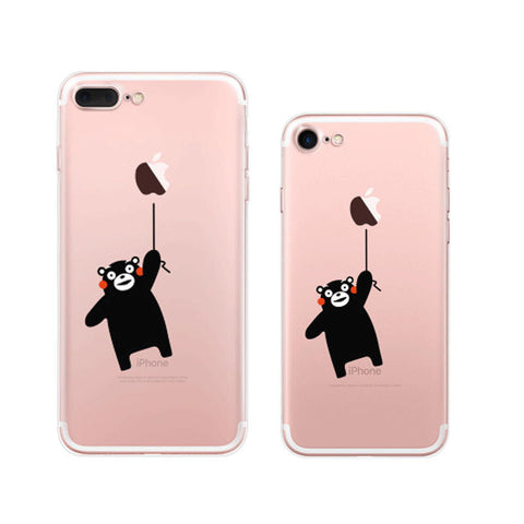 Kumamon Flying iPhone 7 Plus Soft Clear Cases