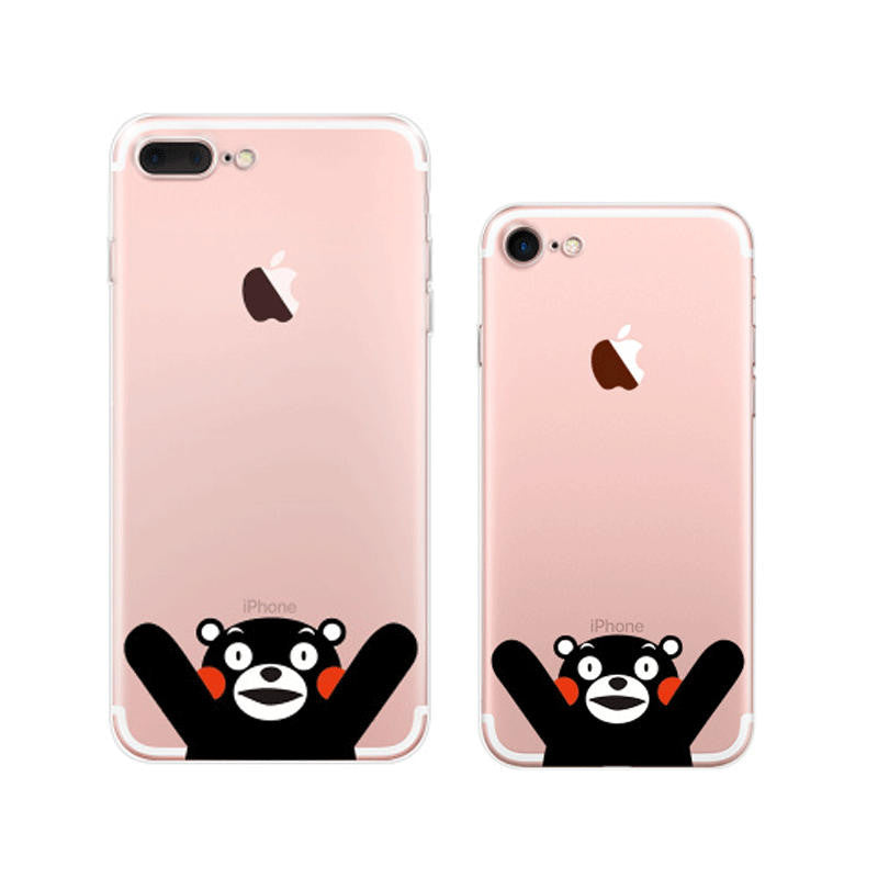Kumamon Hello iPhone 7 Plus Soft Clear Cases