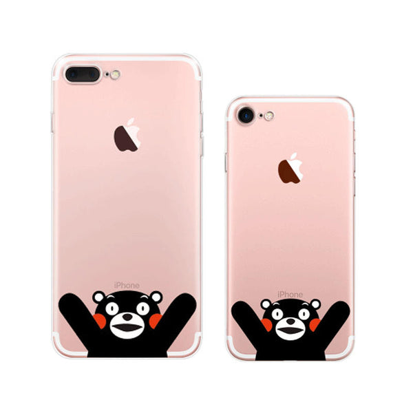 Kumamon Hello iPhone 7 Soft Clear Cases