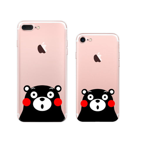 Kumamon iPhone 7 Plus Soft Clear Cases