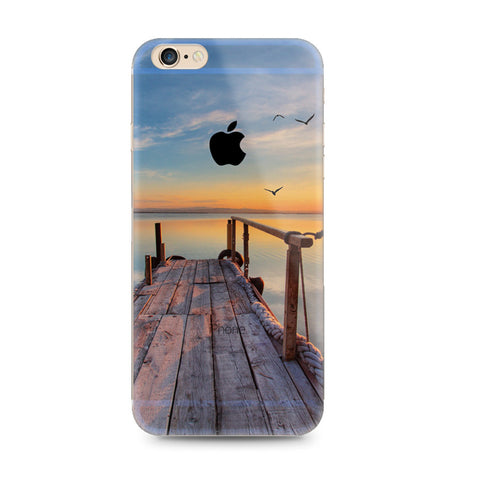 Lake Wood Brige Scenery Nature iPhone 6s 6 Plus Soft Clear Case - Mavasoap
