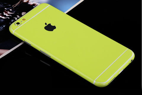 Lime Pure Decal Wrap Skin Set iPhone 6s 6 / iPhone 6s 6 Plus - Mavasoap - 1