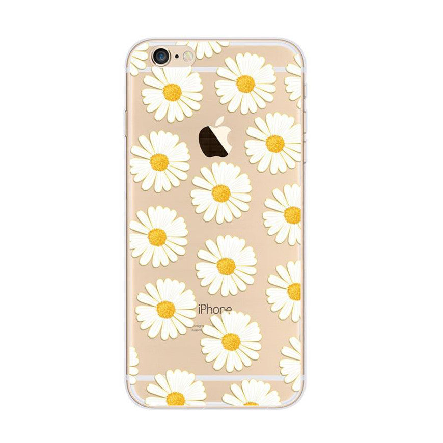 check out f53ba 96aed Little Daisy Pattern White iPhone 6s 6 Plus SE 5s 5 Soft Clear Case