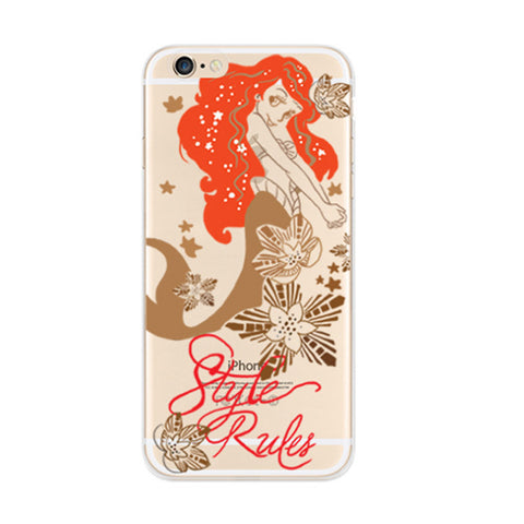 Little Mermaid iPhone 6s 6 Soft Clear Case - Mavasoap