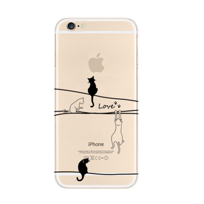 Love Cat iPhone 6s 6 Soft Clear Case - Mavasoap