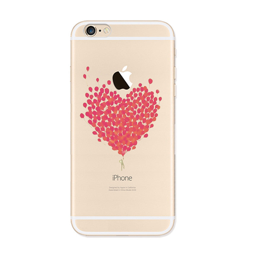 Love Heart Sweet Many Balloons iPhone 6s 6 Plus SE 5s 5 Soft Clear Case - Mavasoap