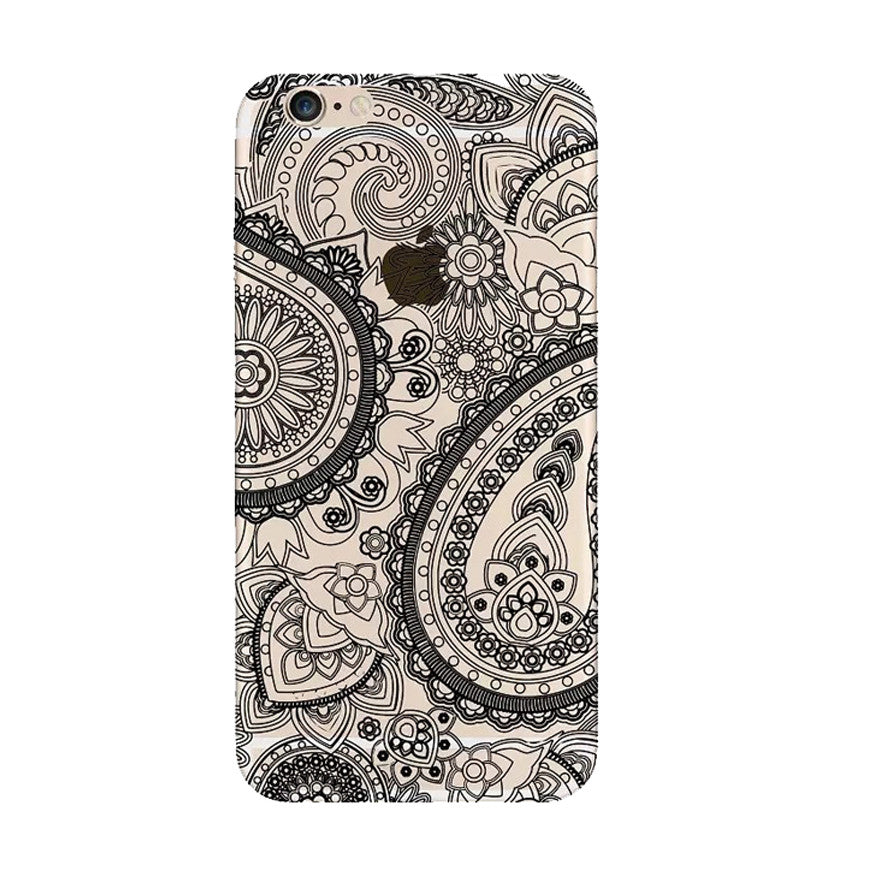 Mandala Hippie Trendy Black iPhone 6s 6 Plus Soft Clear Case - Mavasoap