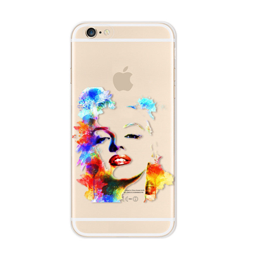 Marilyn Monroe iPhone 6s 6 Soft Clear Case - Mavasoap