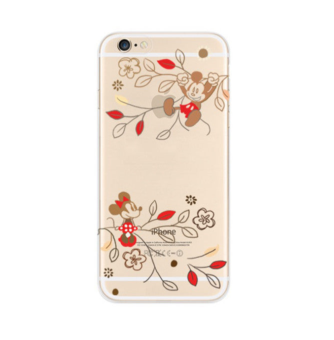 Mickey Mouse Flowers iPhone 6s 6 Soft Clear Case - Mavasoap