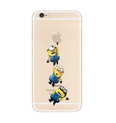 Minions 3 Middle Climbing iPhone 6s 6 Plus SE 5s 5 Soft Clear Case - Mavasoap