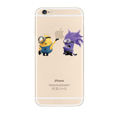 Minions Monster Touch Apple iPhone 6s 6 Plus SE 5s 5 Soft Clear Case - Mavasoap