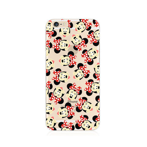 Mickey Minnie Mouse Pattern iPhone 6s 6 Plus SE 5s 5 Soft Clear Case - Mavasoap