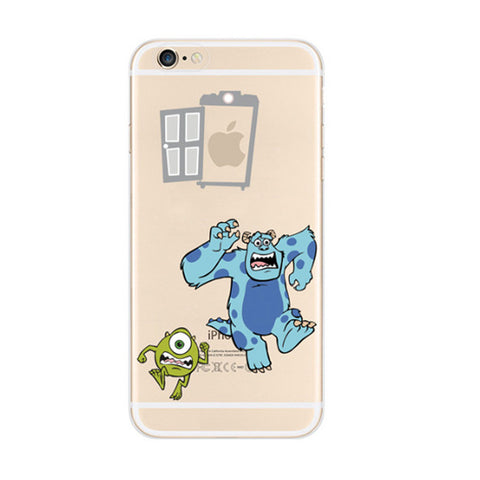 Running Monsters University iPhone 6s 6 Plus SE 5s 5 Soft Clear Case - Mavasoap