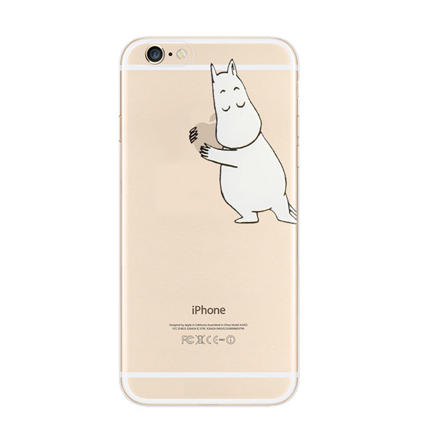 Moomin Apple iPhone 6s 6 Plus Soft Clear Case - Mavasoap