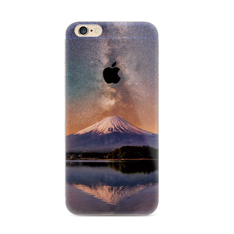 Mount Fuji Mountain Nature iPhone 6s 6 Plus SE 5s 5 Soft Clear Case - Mavasoap