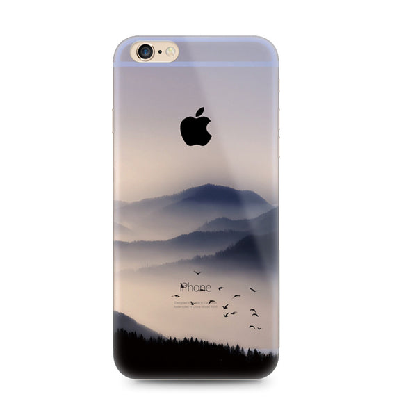 Mountain Scenery Bird Nature iPhone 6s 6 Plus SE 5s 5 Soft Clear Case - Mavasoap