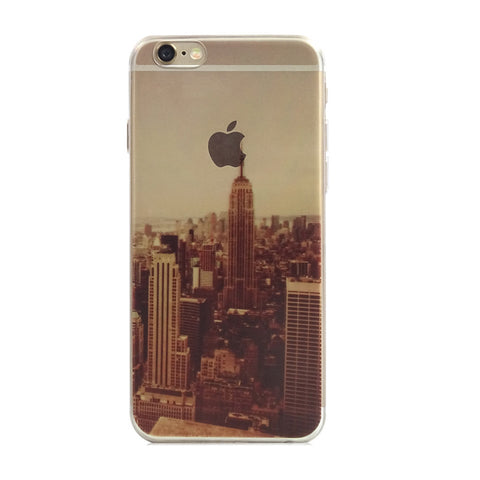 New York City Scenery Nature iPhone 6s 6 Plus Soft Clear Case - Mavasoap