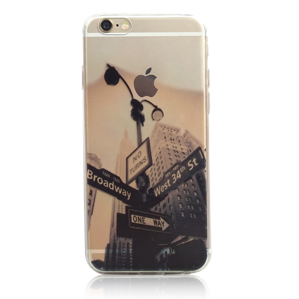 New York City West 34th Street Nature iPhone 6s 6 Plus Soft Clear Case - Mavasoap