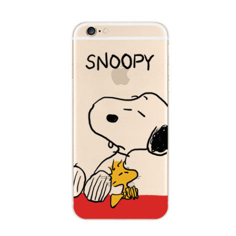 Snoopy Woodstock Nope iPhone 6s 6 Soft Clear Case - Mavasoap