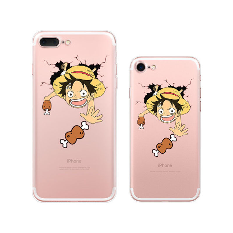 One Piece Luffy Broken Wall iPhone 7 Cases