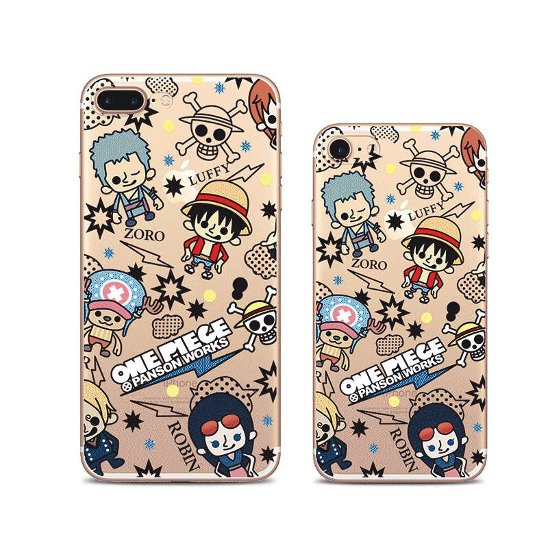 One Piece Pattern iPhone 7 Soft Clear Cases