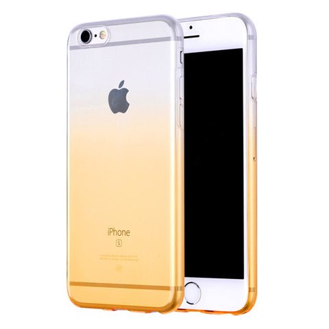 Orange Gradient Transparent Soft Clear Case Back Cover for iPhone 6s 6 Plus SE 5s 5 - Mavasoap - 1