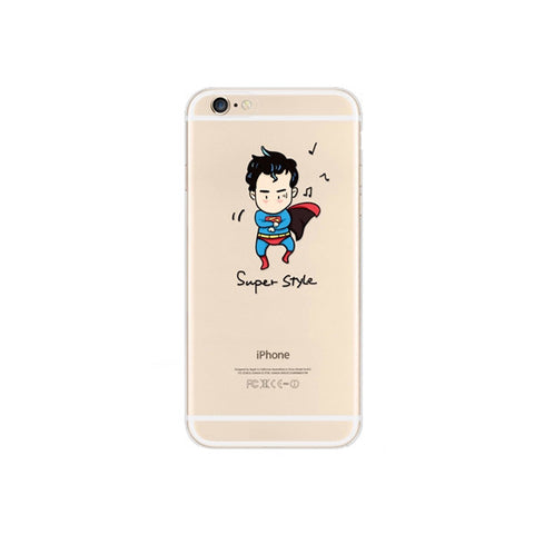 Superman x PSY Gangnam Style iPhone 6s 6 Plus Soft Clear Case - Mavasoap